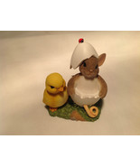 You're One of a Kind Charming Tails Figurine Mouse in Egg Shell With Chick - $38.60