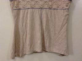 Beige Linea Donatella Size Large Sleeveless Top Uneven Bottom Lace on Back image 7