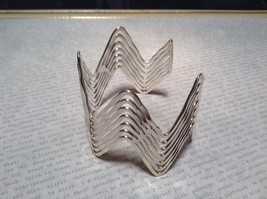 Zig Zag Pattern Handcrafted Silver Plated Cuff Bracelet 925 Sterling Silver image 1