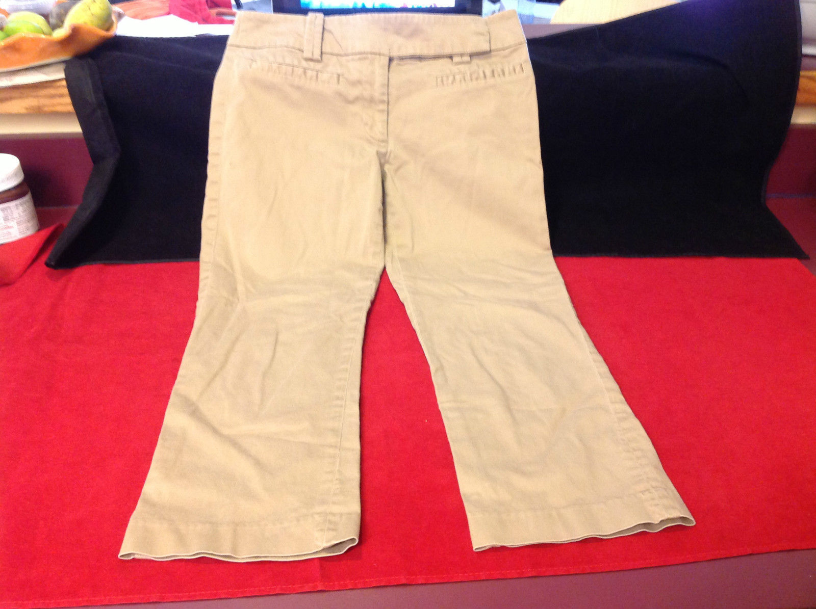 Zara Basic Ladies Khahi Colored Pants Size 6