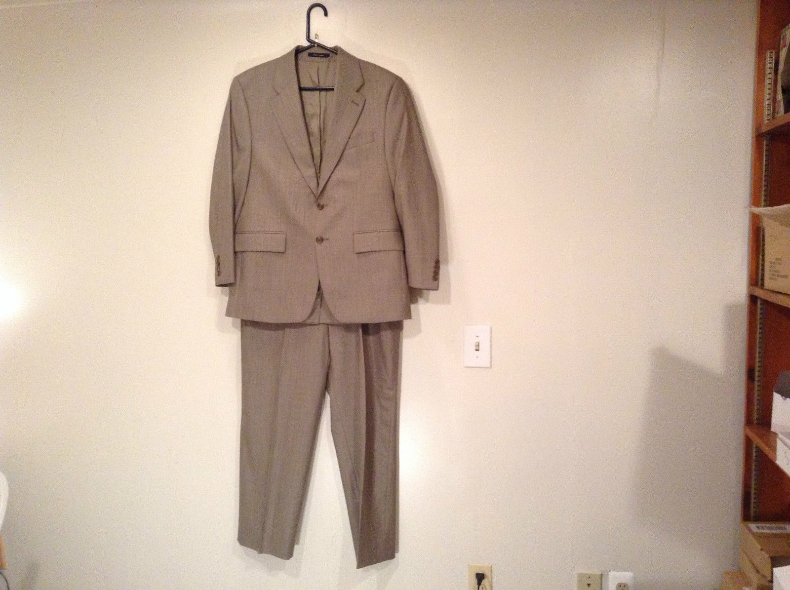 Zohreh Couture Brown 2 Button Closure Suit Jacket and Pants Measurements Below