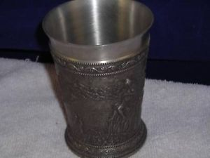 Zingerrat Pewter Metal Beer Cup with Music relief