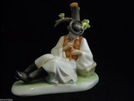 Zsolnay Hand Painted Hungarian Shepherd Boy Porcelain Figurine