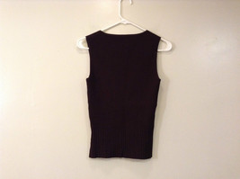 Belldini Brown Square Neck Sleeveless Top Size M Stretch Fabric image 2
