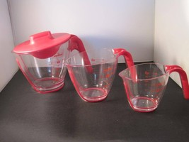 Zyliss 3 Piece Measuring Cup Set w 1 lid - $24.74