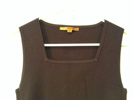 Belldini Brown Square Neck Sleeveless Top Size M Stretch Fabric image 3