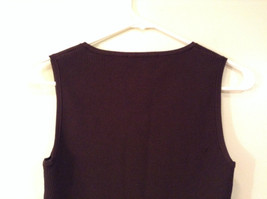Belldini Brown Square Neck Sleeveless Top Size M Stretch Fabric image 6