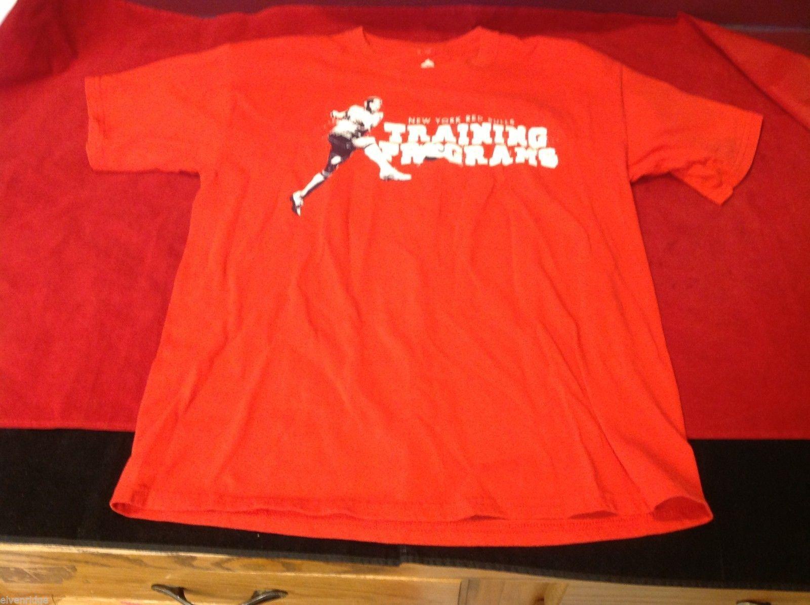 adidas men's t shirt red logo L large soccer red bulls New York signed Tyler