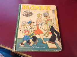 antique book Blondie Comics collection in hardcover 1944