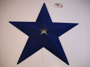 blue faux suede flocked star wall hanging fuzzy