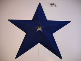 blue faux suede flocked star wall hanging fuzzy - $19.79