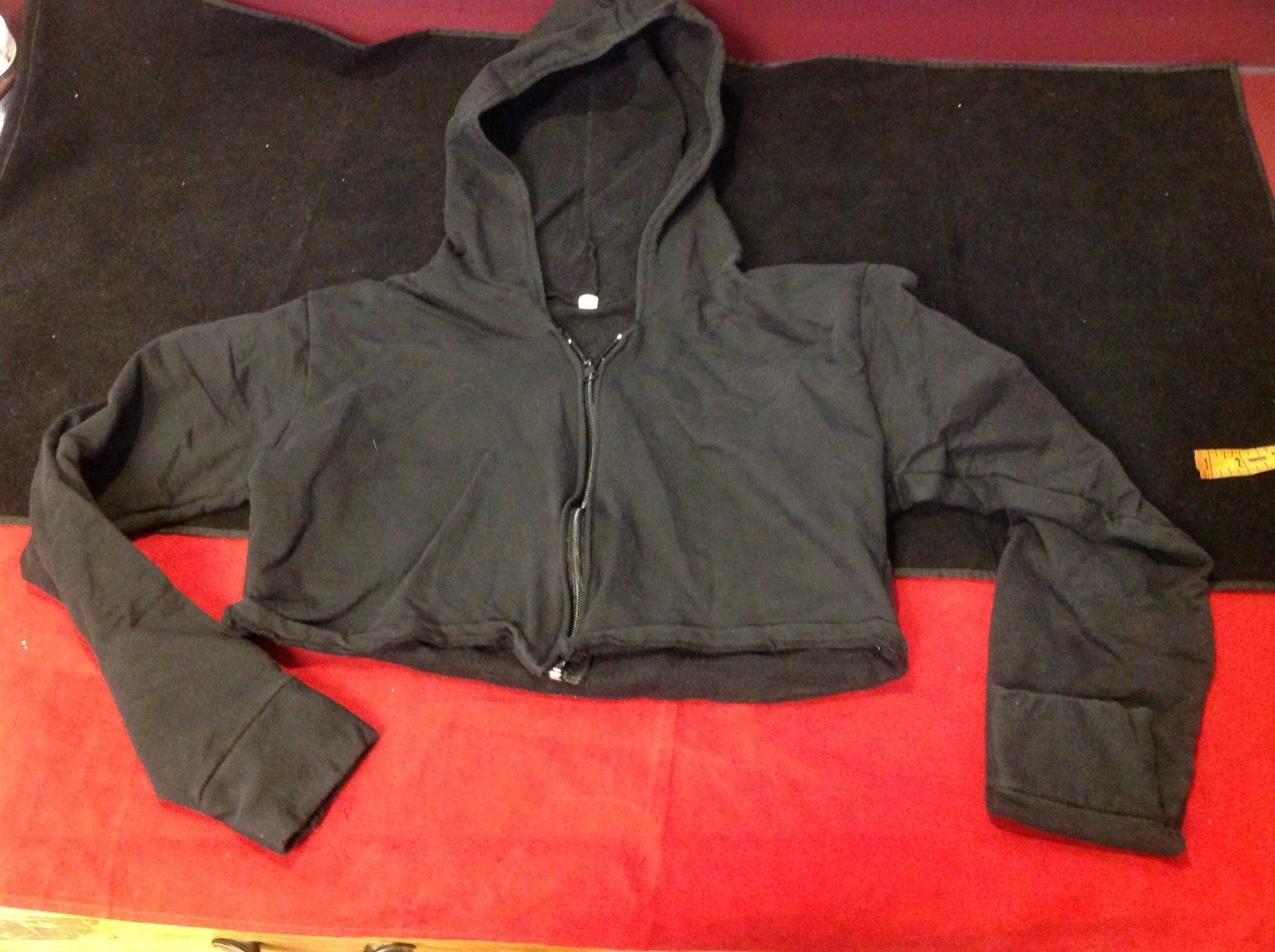 black sweater with zipper size small for women