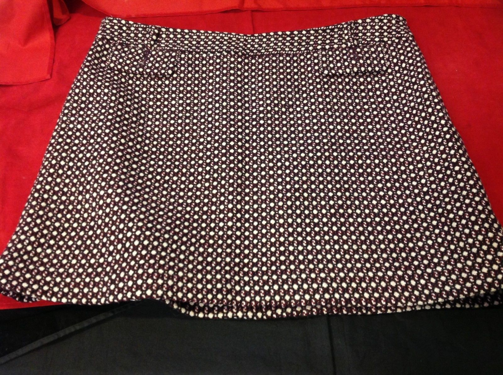 banana republic purple mini skirt size 10