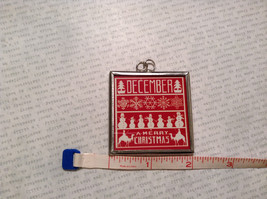 Believe Peace Joy Charm Present Tie On Versatile Reversible Tag Metal Glass Tag image 3
