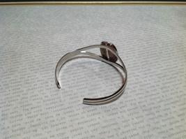 Beige Oblong Stone Silver Tone Geo Jewelry Bracelet possibly jasper image 5