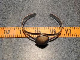 Beige Oblong Stone Silver Tone Geo Jewelry Bracelet possibly jasper image 6