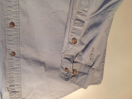 Tan Button Up BUZZ OFF Collared Casual Shirt 2 Front Pockets Size Small image 2