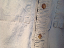 Tan Button Up BUZZ OFF Collared Casual Shirt 2 Front Pockets Size Small image 5