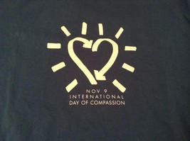 Teal Short Sleeve Graphic T Shirt International Day of Compassion Size Medium image 3