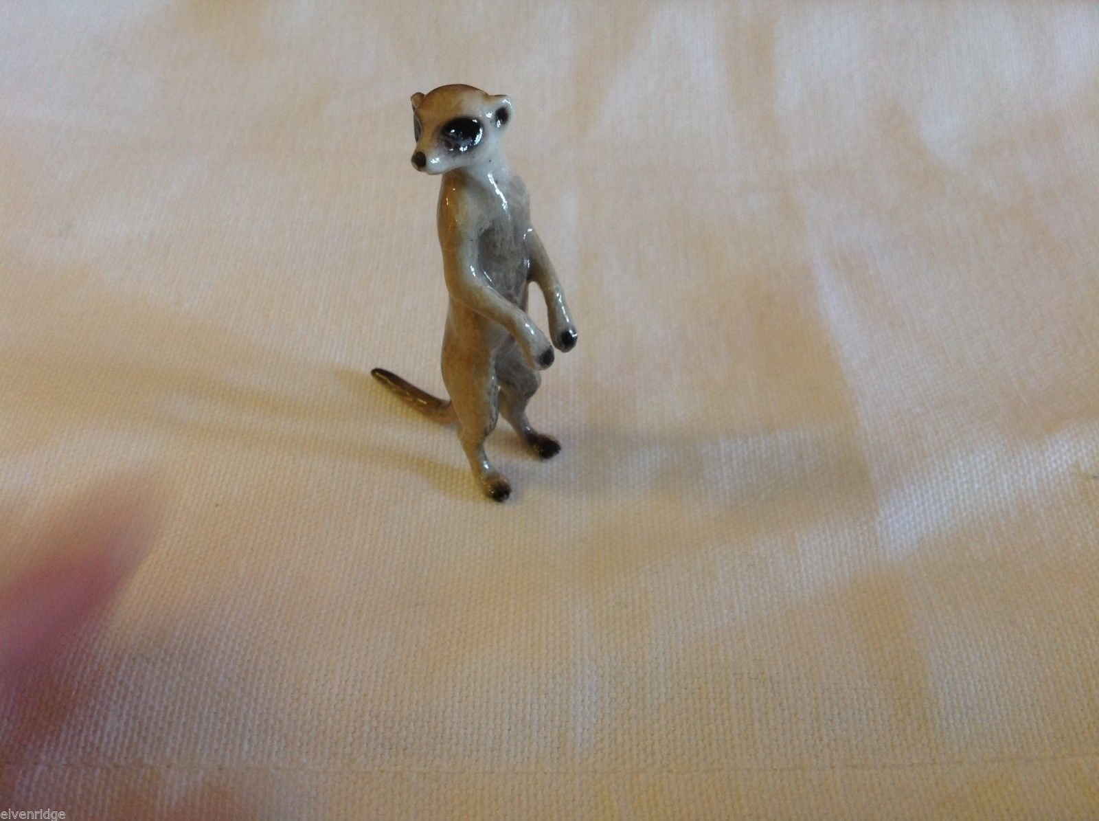 ceramic miniature Meerkat standing up on two feet