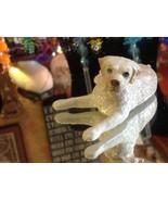 ceramic miniature dog Yellow Labrador reclining - $49.49