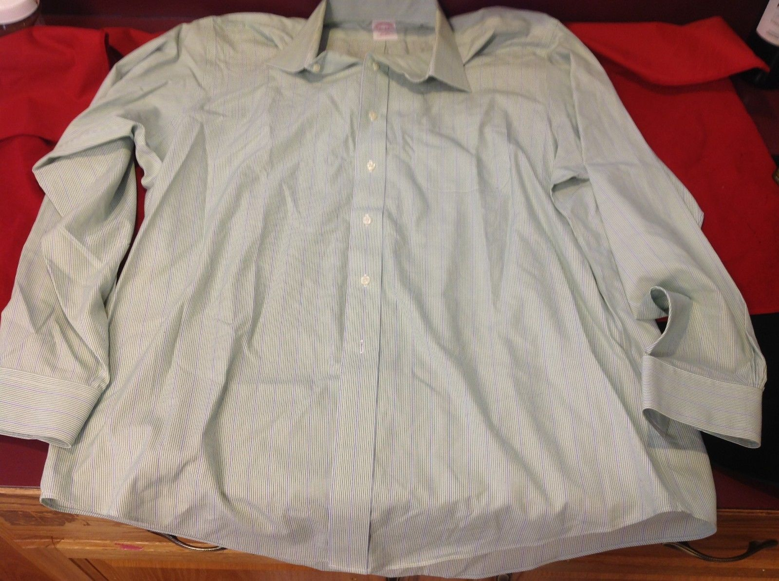brooks  brothers dress shirt striped size 16 1/2 - 4/5