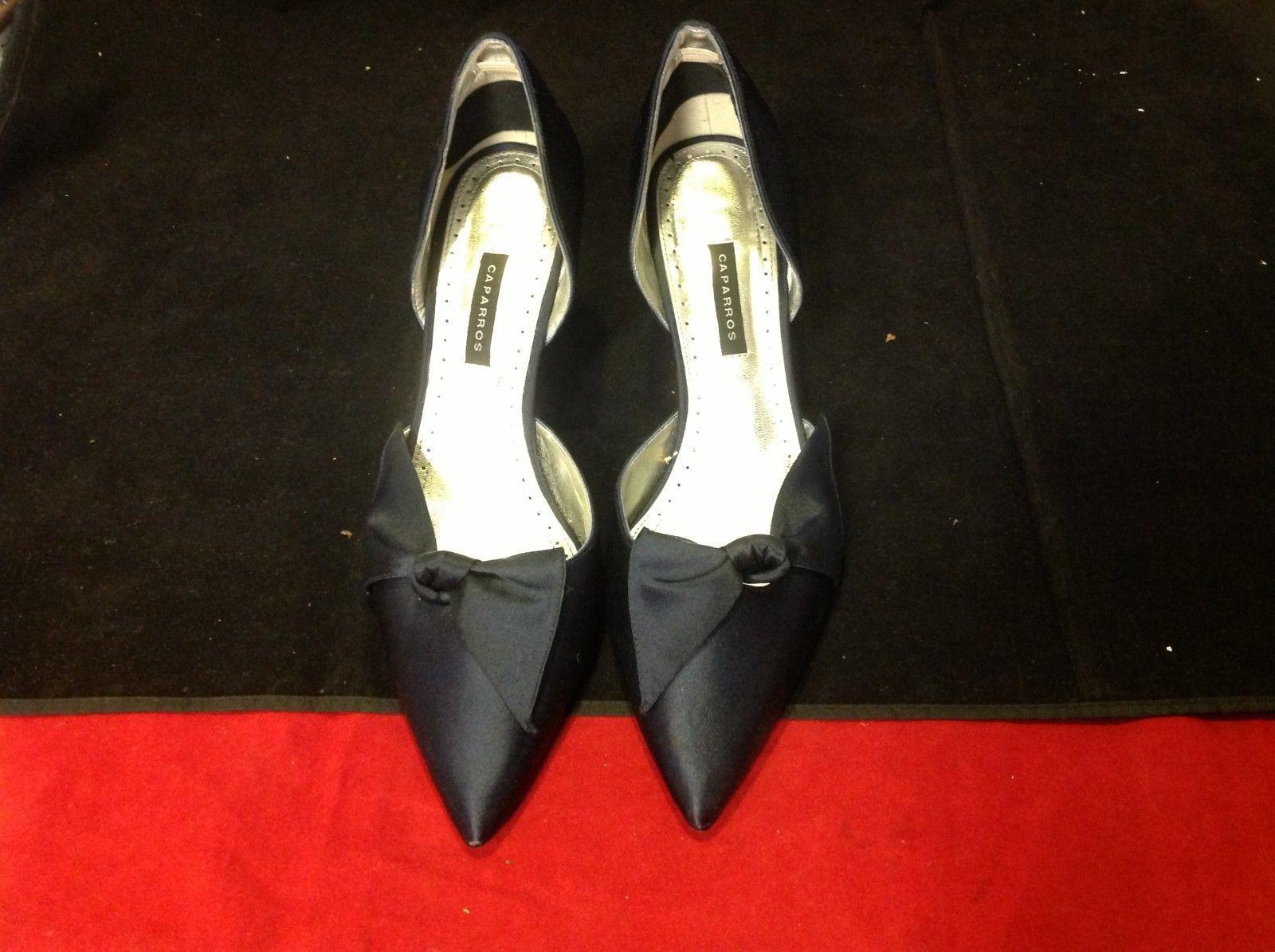caparros  blue 4 inch heels size 9
