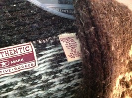Best Authentic True Mark Innovative Brown Graphic Long Sleeve Sweater Size L image 5