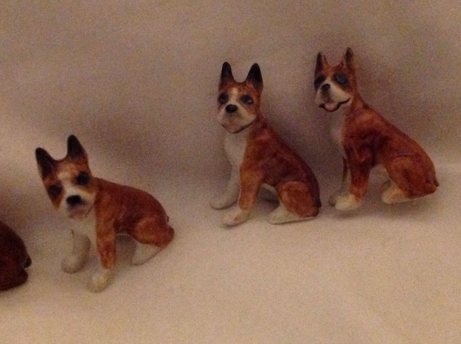 ceramic miniature dog cute little sitting Boxer