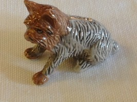 ceramic miniature dog cute sitting Yorkie Yorkshire Terrier
