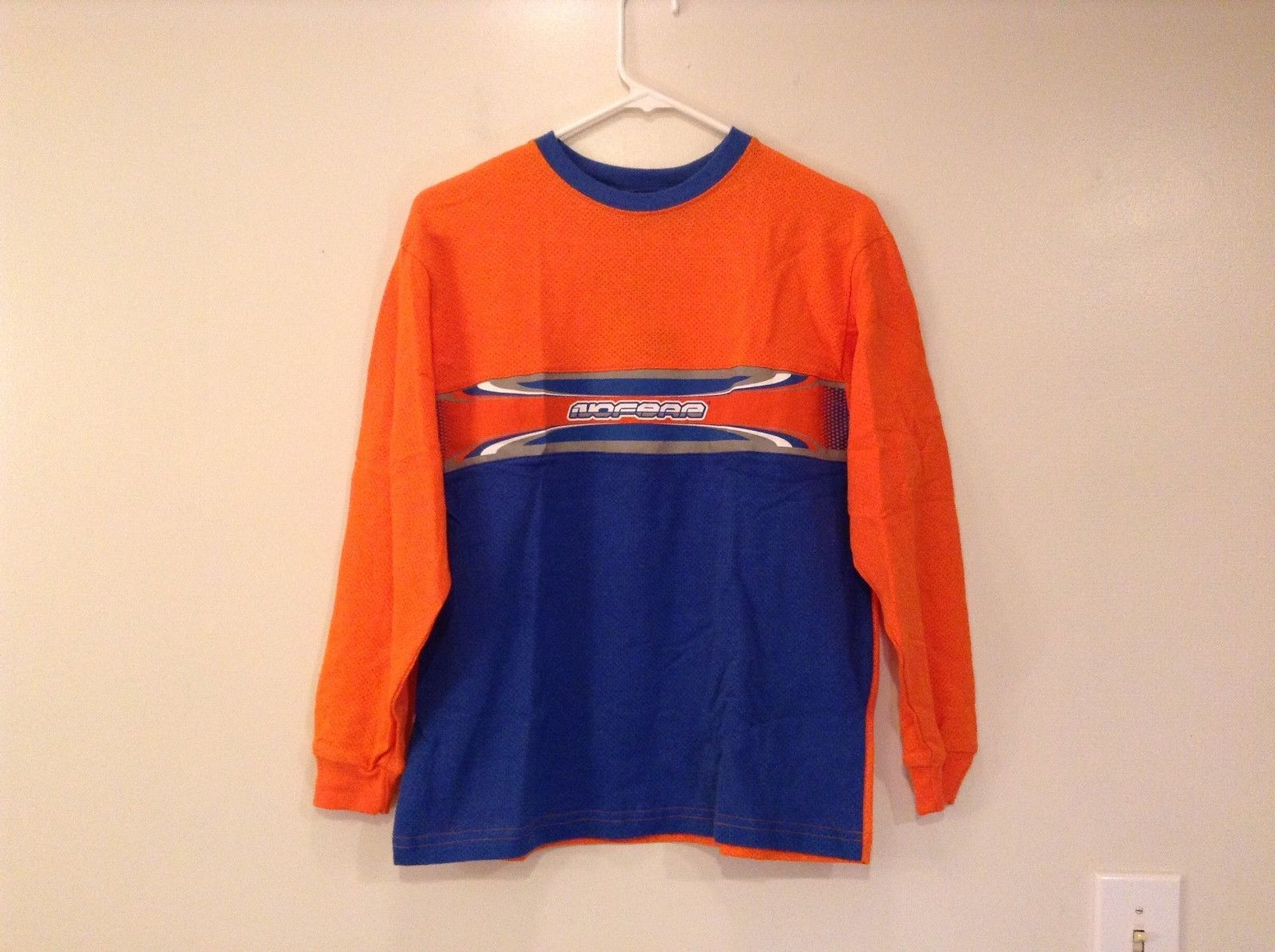 boy's sports jersey No Fear NEW w tags orange and blue