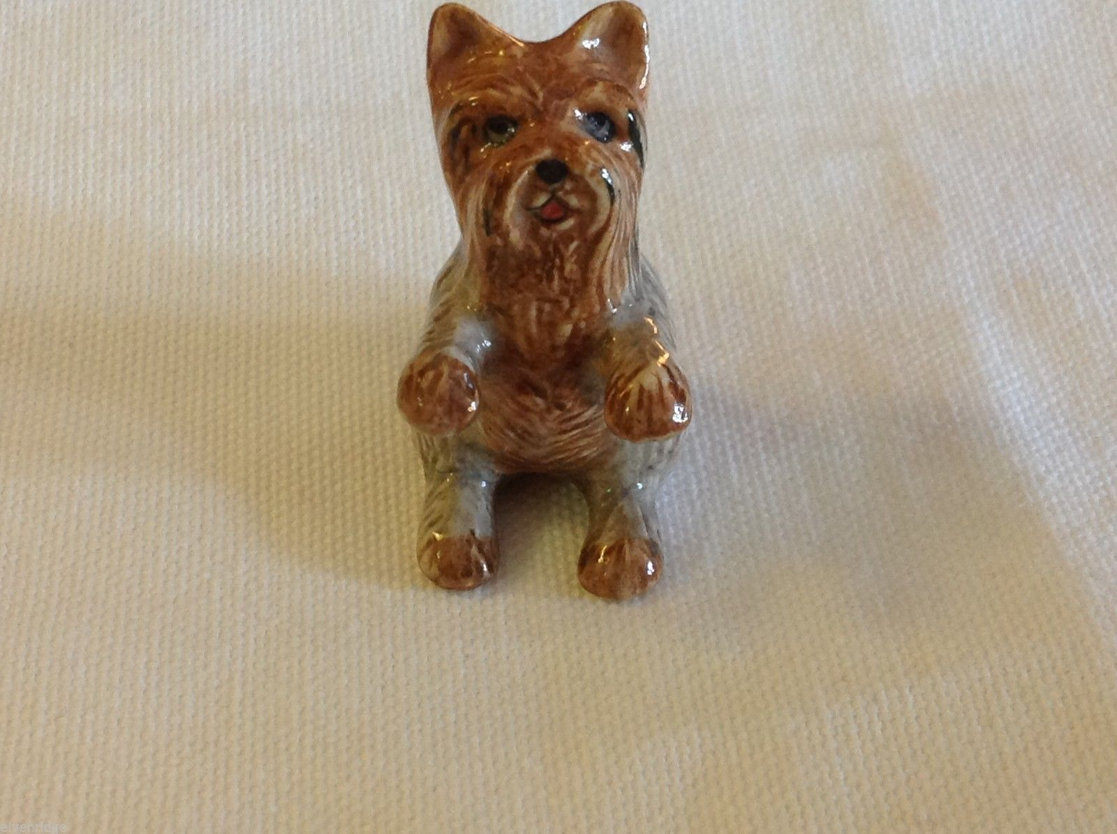 ceramic miniature dog cute begging Yorkie Yorkshire Terrier