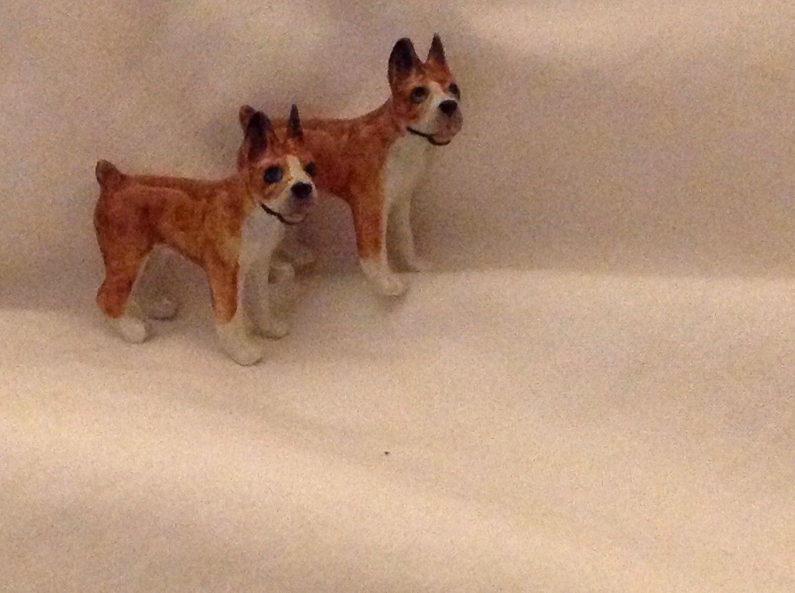 ceramic miniature dog cute little standing Boxer