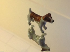 ceramic miniature dog cute standing happy Jack Russell Terrier