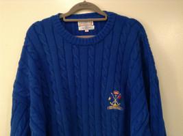 Bermuda Yachting Blue Knit Long Sleeve 100 Percent Cotton Sweater Size XXL image 2