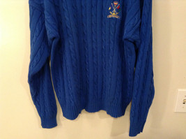 Bermuda Yachting Blue Knit Long Sleeve 100 Percent Cotton Sweater Size XXL image 3