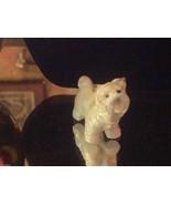 ceramic miniature dog white and gray Yorkshire Terrier Yorkie standing - $34.64