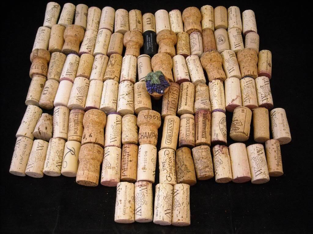 collection of 106 wine corks