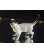 ceramic miniature gray Siamese cat standing - $49.49