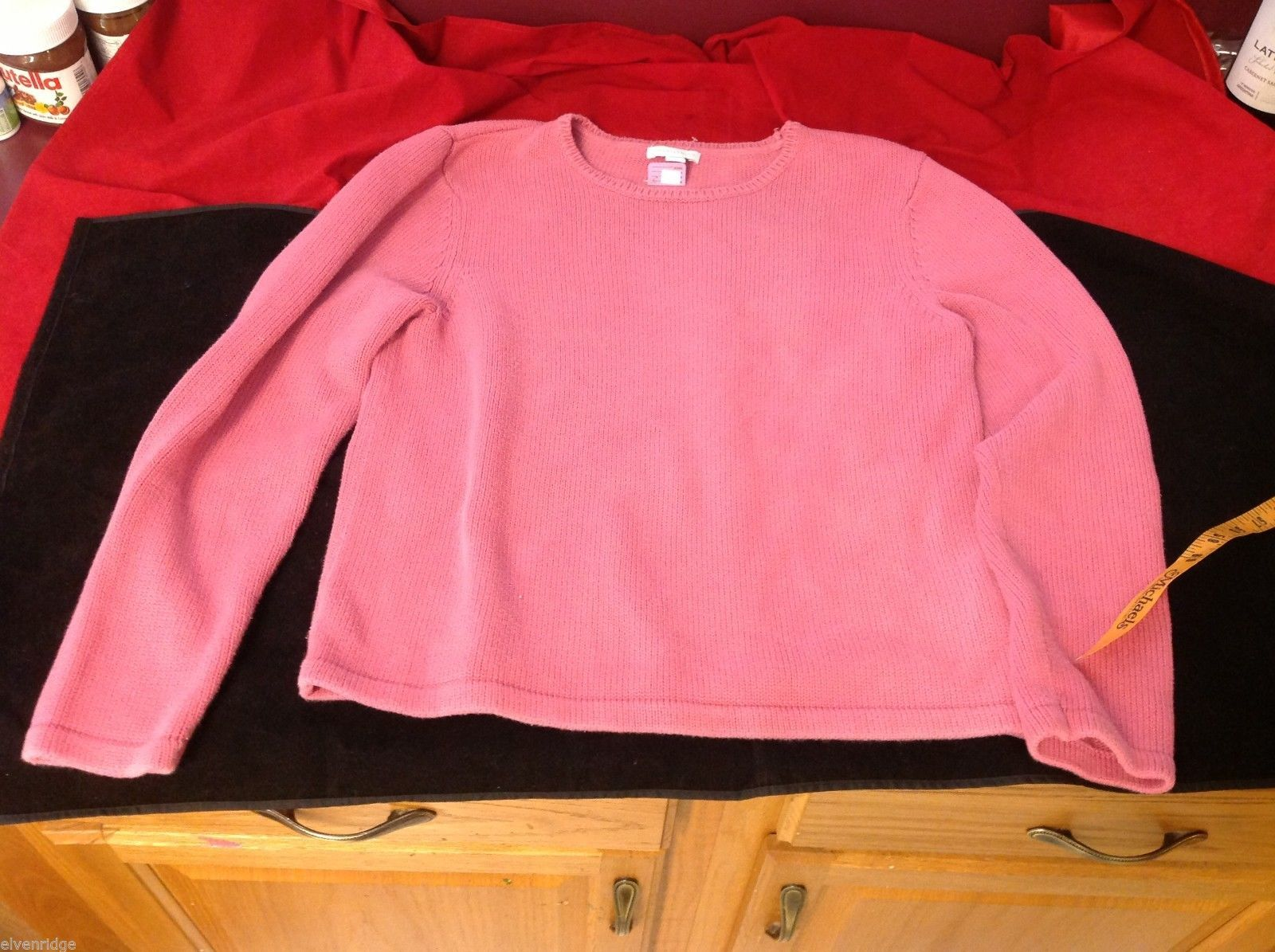 charter club pink sweater  large