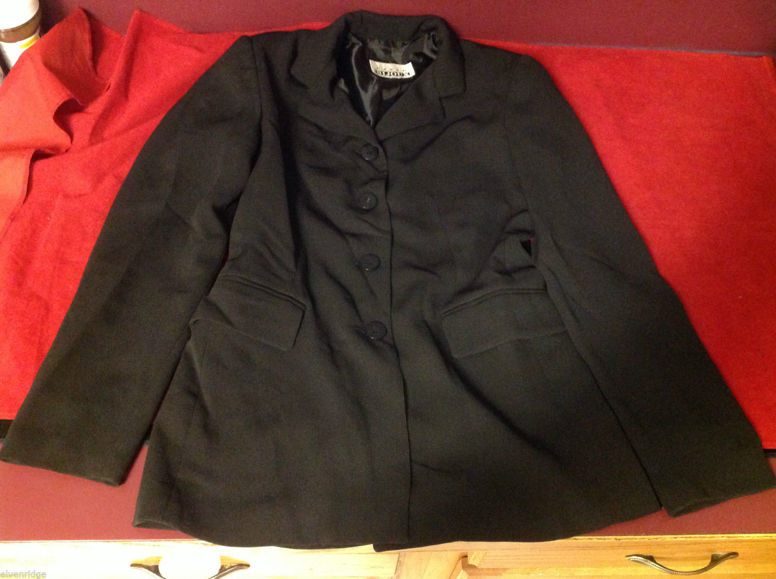 david bijon young woman girl  black blazer sport jacket size 4