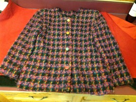 colorful blazer black red purple pink size 14