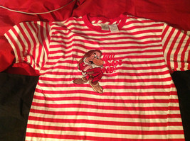 The Disney Store Red/White Striped Shirt with Grumpy the Dwarf on Front Size M image 2