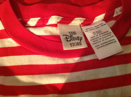 The Disney Store Red/White Striped Shirt with Grumpy the Dwarf on Front Size M image 3