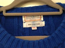 Bermuda Yachting Blue Knit Long Sleeve 100 Percent Cotton Sweater Size XXL image 4