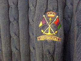 Bermuda Yachting Blue Knit Long Sleeve 100 Percent Cotton Sweater Size XXL image 5