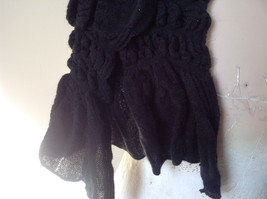 The Magic Scarf Company Pretty Black Cinched Scarf 70 Inches in Length image 3
