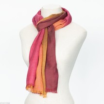 Berry Block Soft Viscose scarf with four shades image 3