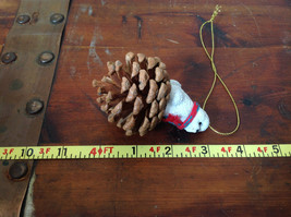Bichon Frise Pine Cone Pet White Dog with Scarf Ornament Real Pine Cone image 5