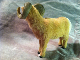 Big Horn Ram - Male Sheep - Animal Figurine - recycled rabbit fur image 4